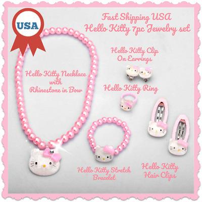Children Hair Accessories Set Hello Kitty Jewelry 1set=7pcs Jewelry Accessories