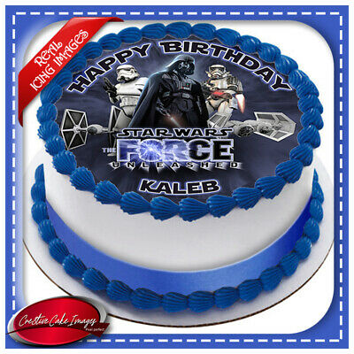 Pleasant Star Wars Edible Icing Image Cake Topper Personalised Birthday Funny Birthday Cards Online Overcheapnameinfo