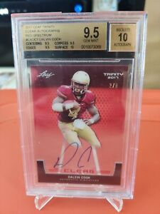 2017 Leaf Trinity Dalvin Cook Clear Autographs Red Spectrum 2/5 BGS 9.5 Auto 10