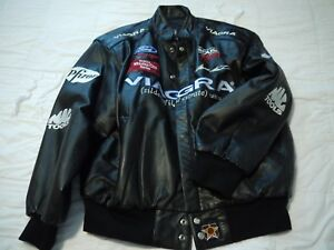 leather viagra jacket nascar mark martin men s medium made in usa