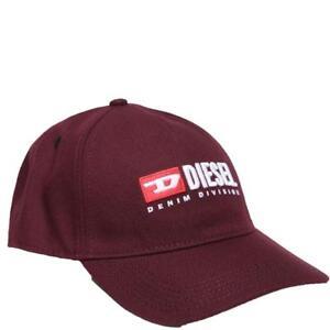 Diesel Jeans Cakerym-Max Baseball Cap Snapback Hat Burgundy Black ... c5b374dbfba