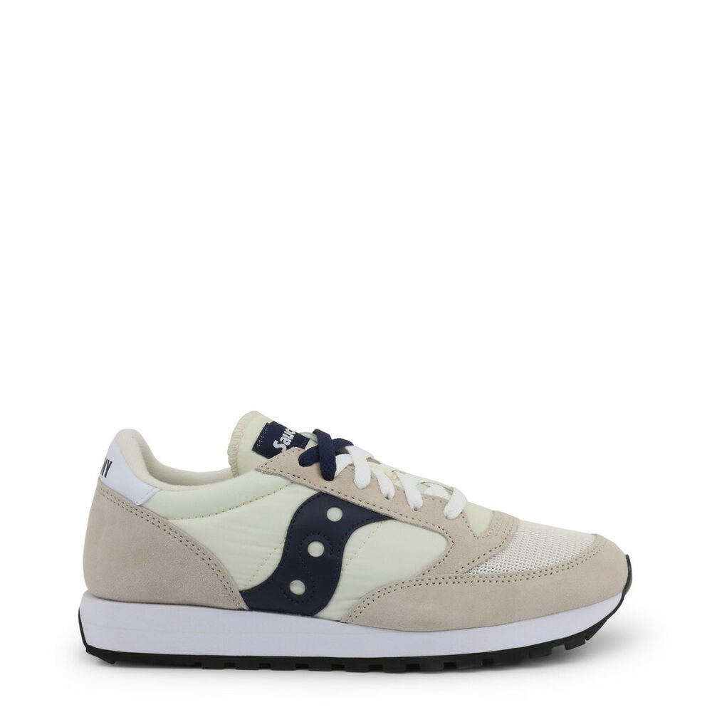 Chaussures Saucony Jazz _ S70368_ 82_ Tan-navy Blanc Bleu Baskets Homme