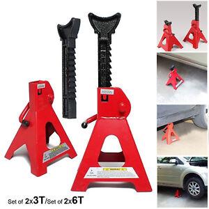6 Ton Lifting Capacity Axle Jack Stand Heavy Duty Caravan Car Floor Jack 2PC 3