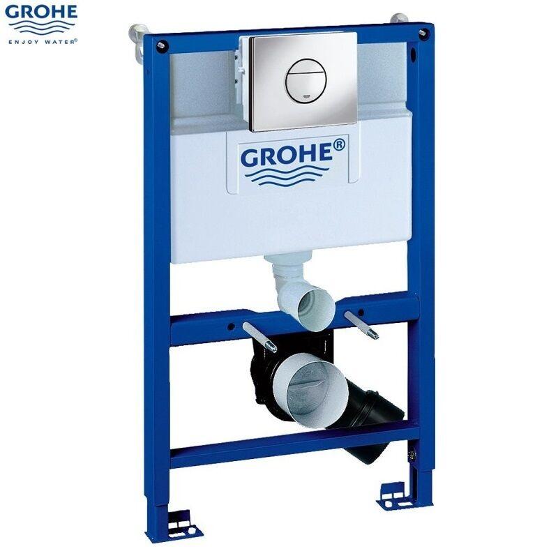 GROHE 38868 000 Rapid SL 3 en 1 WC Set incl. 0,82 m caché cadre et citerne