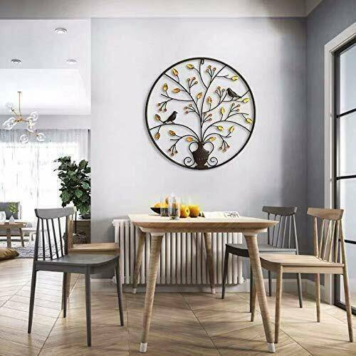 Metal Tree Art Wall Sculpture Home Decor Hanging Large Accent Modern Glass Life For Sale Online Ebay