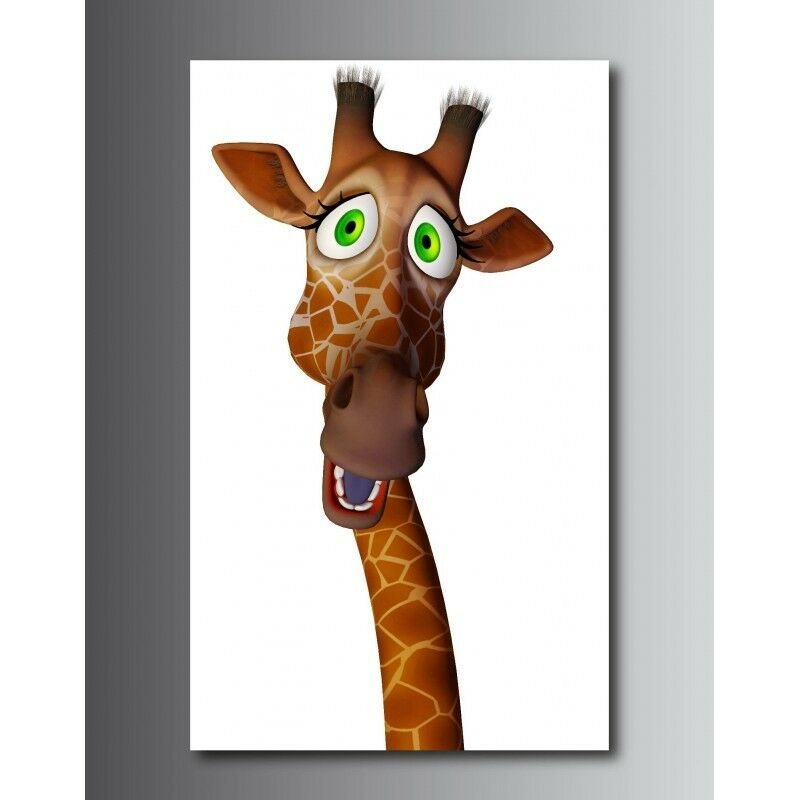 Cuadro tela decoración decoración tela rectangular vertical cabeza de jirafa 61005589 3bfefb