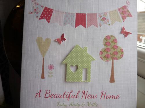 Personalised Handmade New Home House Card Housewarming