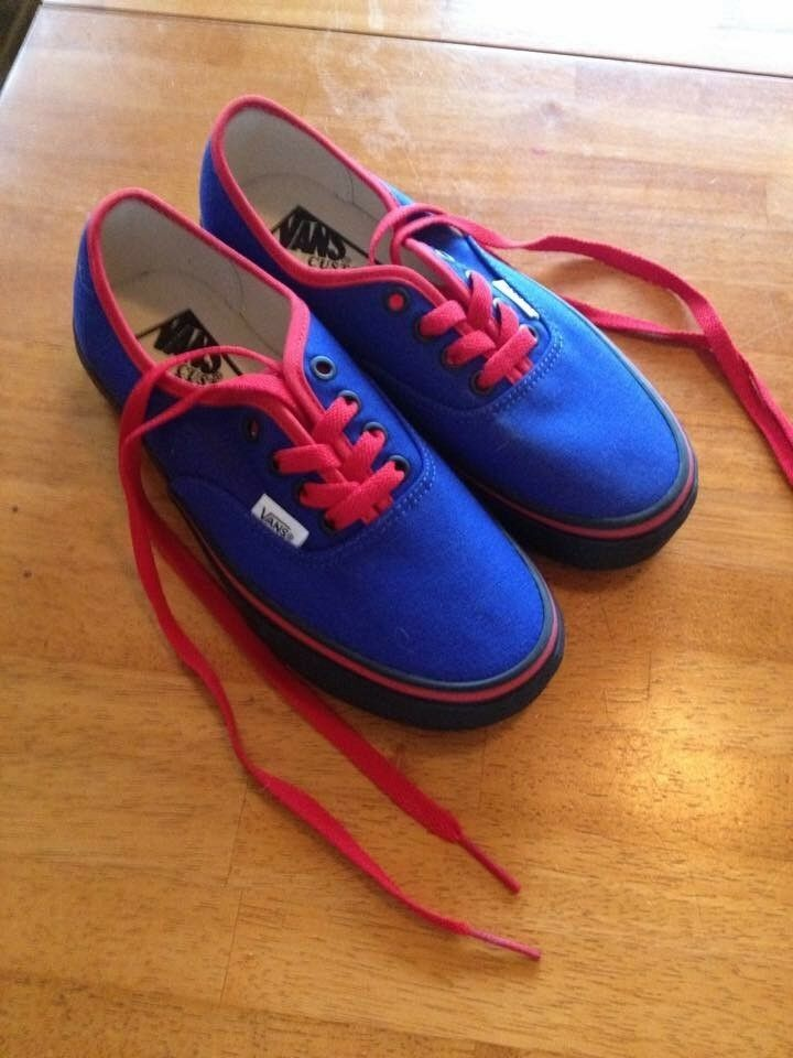 Red and bluee vans size youth 4.5