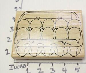 Wooden-RUBBER-STAMP-Block-Background-For-Cards-Egg-Carton-Morning-Breakfast