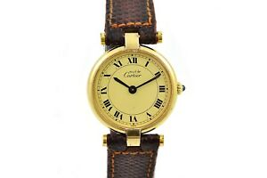 Vintage-Must-De-Cartier-Vermeil-Quartz-925-Gold-Plated-Ladies-Watch-1492