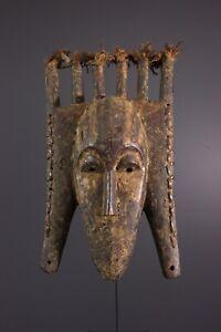 MASQUE-SENOUFO-AFRICAN-ART-AFRICAIN-PRIMITIF-ARTE-AFRICANA-AFRIKANISCHE-KUNST