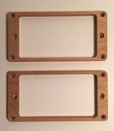 Recessed Height Holes Flat Guilford Mahogany pickup ring set for PRS guitar