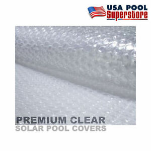 Details about 8\' x 8\' Square Clear Swimming Pool or Spa Solar Cover Blanket  ~ 1600 Series