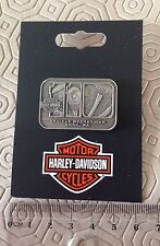 Rare 110Th Anniversary Harley -Davidson York USA Big Twin factory Pewter Pin