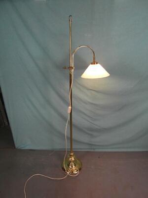 Stehlampe Antik Stil Messing Berlin Verstellbar Schusterschirm Opal Lampe 24a3 Wasserdicht, StoßFest Und Antimagnetisch