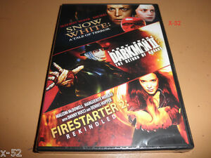SNOW-WHITE-darkman-2-FIRESTARTER-2-dvd-Sigourney-Weaver-Sam-Neill-Dennis-Hopper