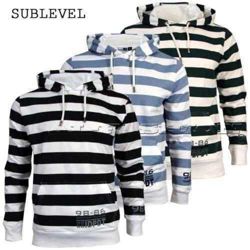 Pullover Sublevel con Cappuccio-SWEATER HOODIE Tg S-XXL
