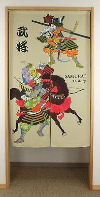 Japanese Noren Curtain UKIYOE SHIRANAMI 85 x 150cm MADE IN JAPAN