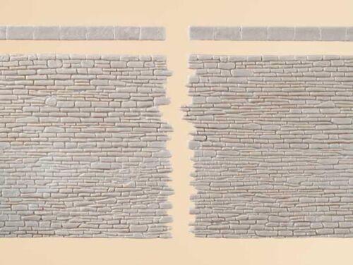 Plastique Auhagen 42649 murs de pierre avec La conclusion de pierres piste h0//tt