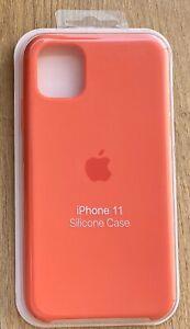 coque silicone apple iphone 11 orange