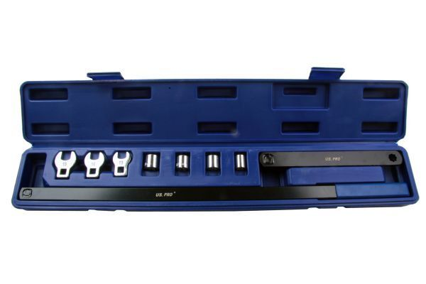US Pro Serpentine Belt Tool Wrench Kit Set in Case Spring Loaded Pulleys 3216