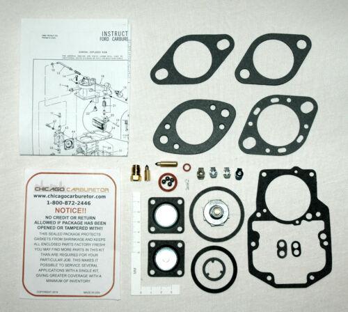 1963-69 Ford /& Mercury Autolite CARBURETOR 1-V 1100 /& 1101 Overhaul //Rebuild Kit