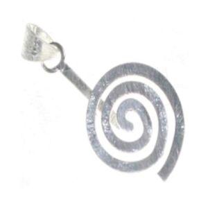 Mineralien & Fossilien Donuthalter 1 Spirale matt 925 Silber 30 mm`` Mineralien Stein Schmuck Deko Mineralien