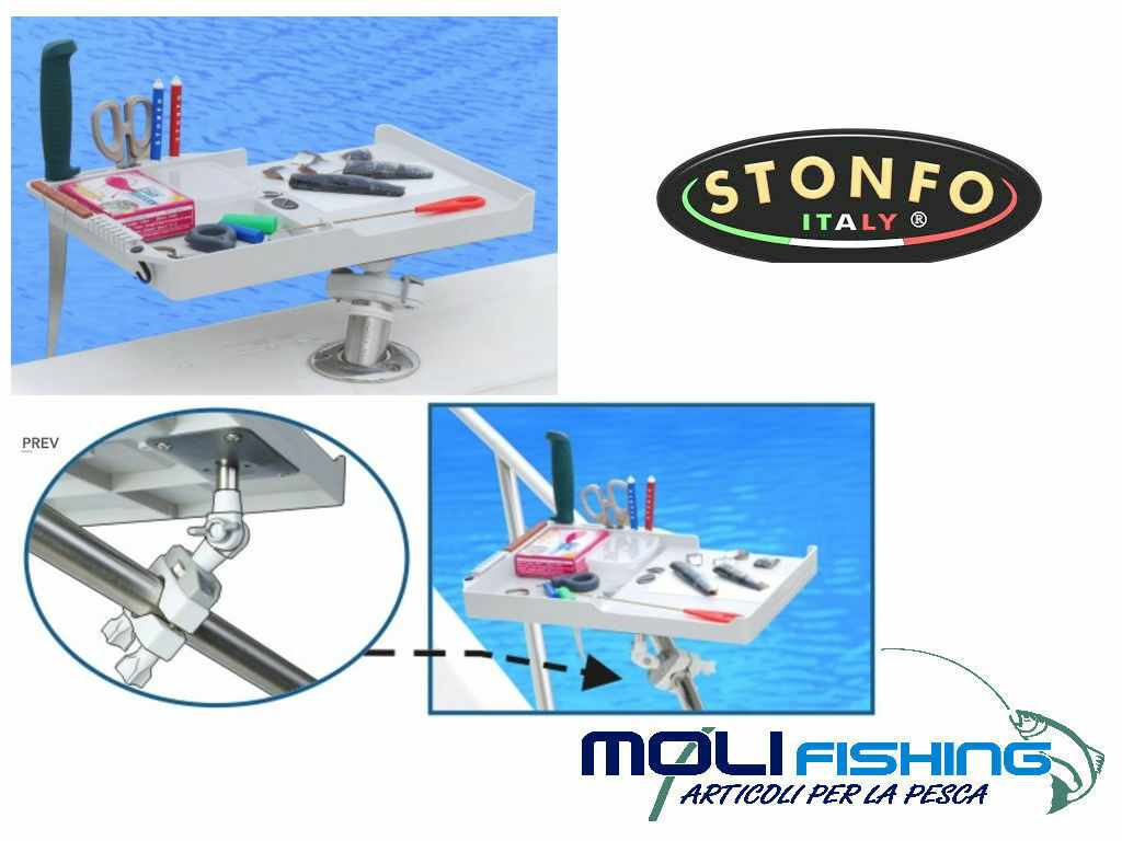 STONFO SERBIDORA BOAT COMPLETE POLE JOINTED ART.569 FISHING DRIFTING BOLENTINO