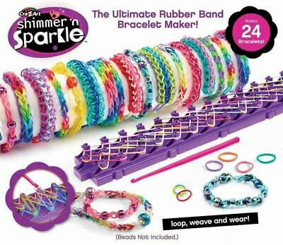 Cra-z-Loom Shimmer /'n Sparkle Rubber Band Bracelet Custom Jewellery Making Kit