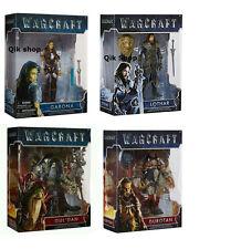 "4x WARCRAFT 6"" inch Figures Garona, Gul'Dan, Lothar, Durotan Very rare"