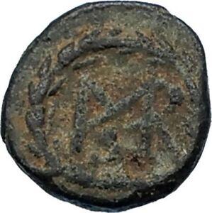MARCIAN Monogram in Wreath 450AD Authentic Ancient Original Roman Coin i65666
