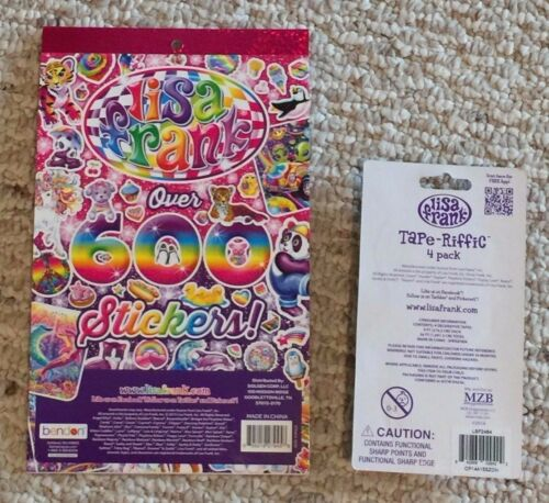 Lot Of 2 BN Lisa Frank Stickers Tape-riffic Decorative Washi Tape Planner Addict