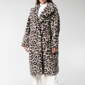 Max Mara Edy Teddy Bear Icon Coat in Leopard Size Medium M - RUNWAY ... b5f712d6a14