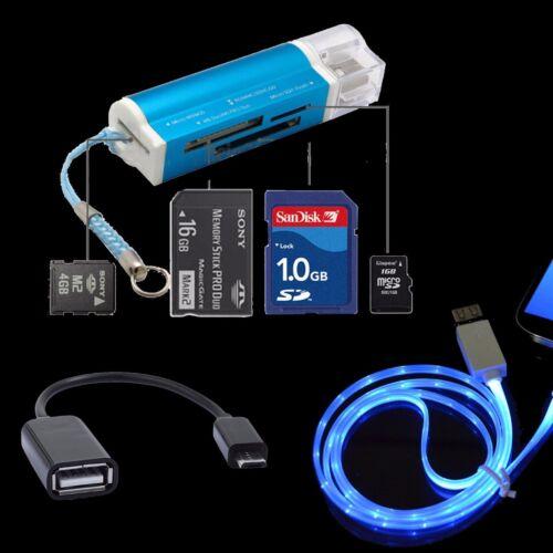 Memory Card Reader OTG USB Cable for Samsung Galaxy S7 S6 edge+ J7 J5 J8 A6 J3
