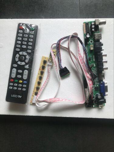 New LCD controller Driver Board TV+HDMI+VGA+CVBS+USB for LQ154M1LW12 T.VST56