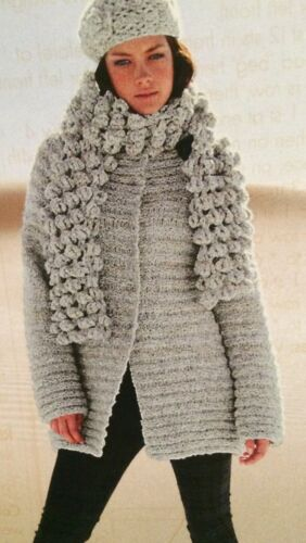 S, M, L, Knitting  Pattern Ladies Flared Coat