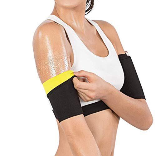 2Pcs Women Sweat Sauna Belt Arm Trimmer Shaper Fat Burner Body Slimming Cincher