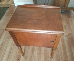 Image Is Loading Empty Singer Sewing Machine Desk Cabinet Table Model