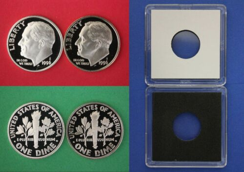SILVER 1996 S Proof John Kennedy Half Dollar With 2x2 Case Combined Shipping