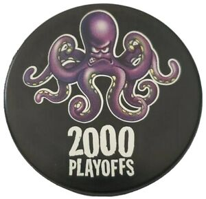 2000 PLAYOFFS NHL RARE 🐙 LOGO DETROIT RED WINGS BRING IT HOME! PUCK - 🇸🇰 GEM!