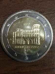 2-Euro-Muenze-017-D-A-Rheinland-Pfalz-Einzigartige-Fehlpraegung-amp-Scharfe-Kanten