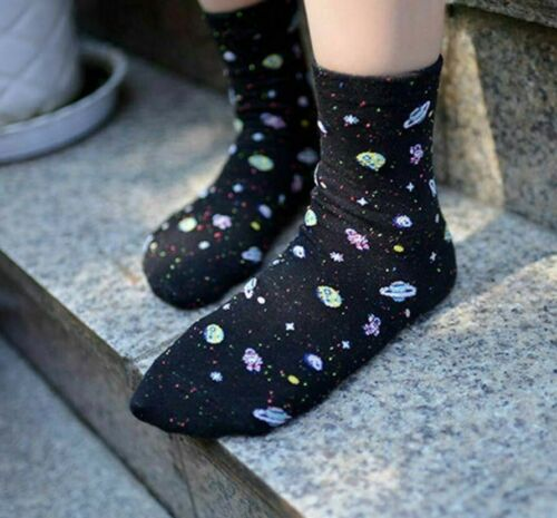 Details about  /Women/'s Outer Space Printed Socks Patchwork Patterns Cotton Elegant Stylish Sock