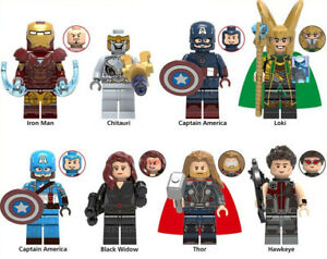 Mosse finali Marvel Iron Man CHITAURI Loki Thor VEDOVA NERA Avengers Building Blocks