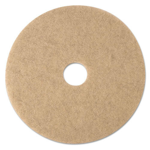 Ultra High-Speed Natural Blend Floor Burnishing Pads 3500, 21  Dia., Tan, 5 CT