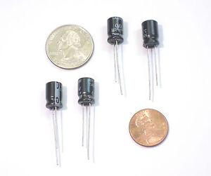qty 10 220uf 16 volt Capacitors new