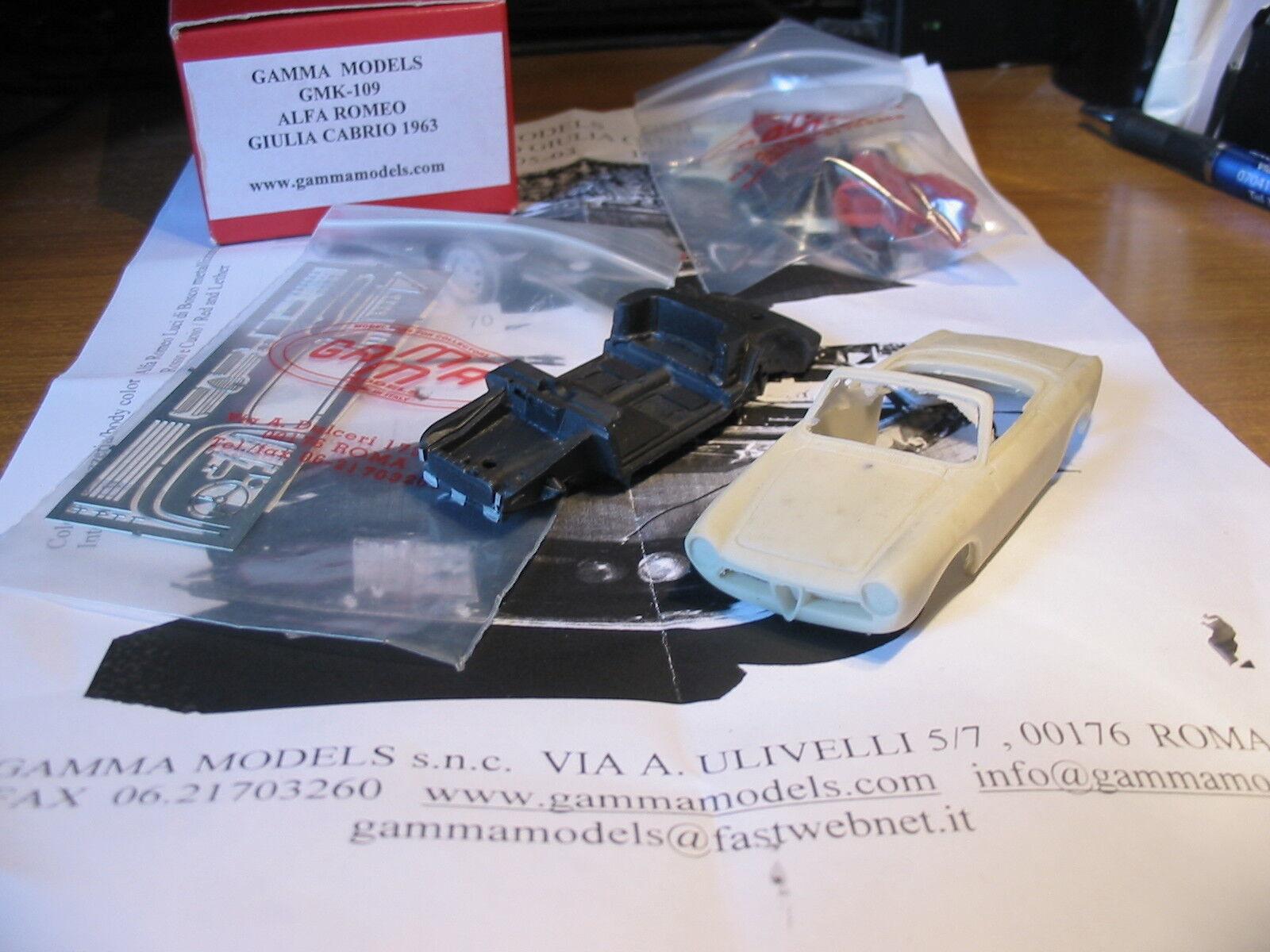 kit Alfa Romeo Giulia Cabriolet 1963 - Gamma Models kit 1 43