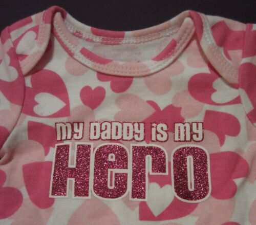 My Baby/'s 1st First Valentine/'s Day Love Bug Bandit My Hero Hearts Romper 0-24