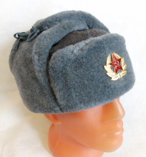 Soviet Russian Army Hat USSR Badge Soldiers North Siberian Ushanka Long Ears