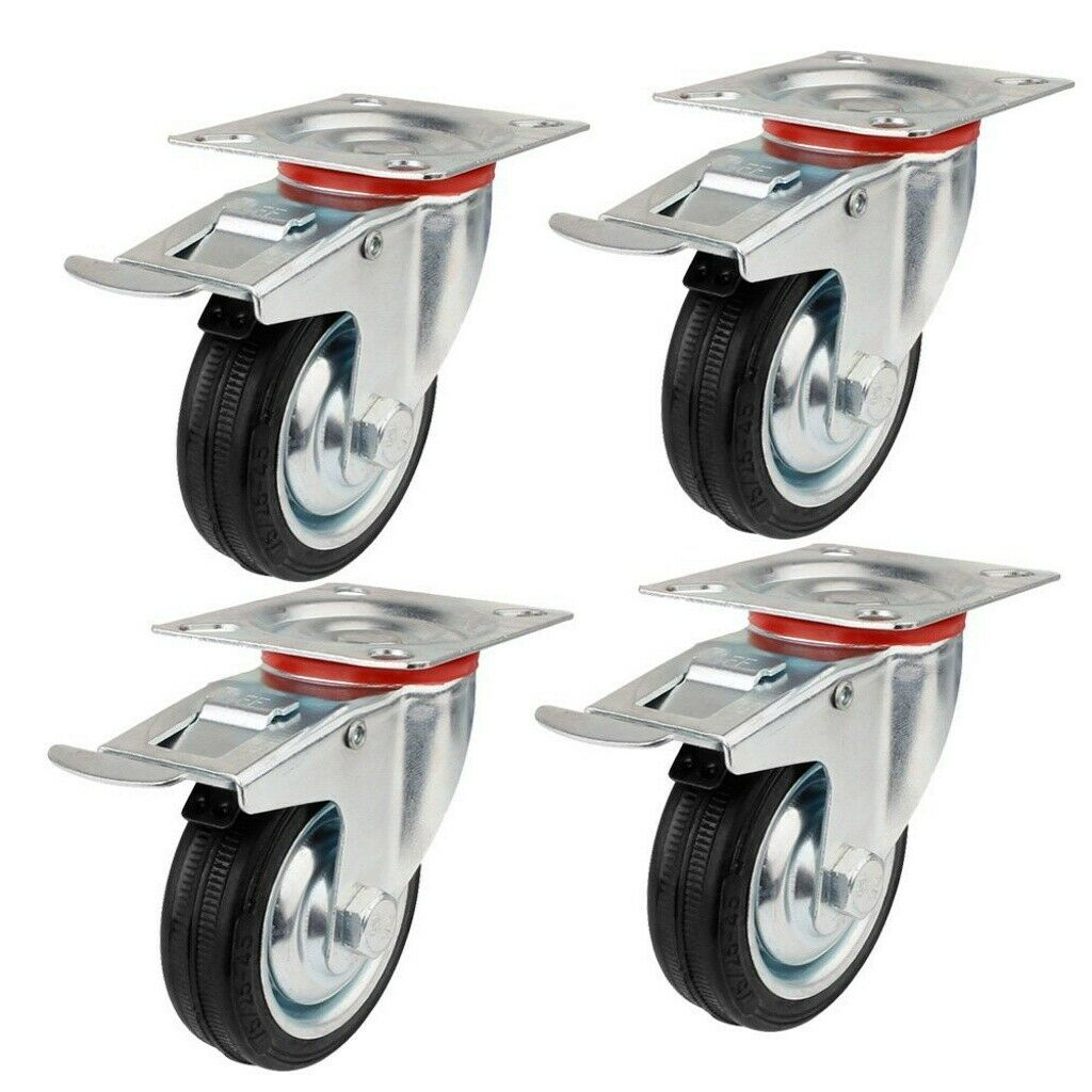 4 Lenkrollen davon 2 mit Bremse 75 mm !! Angebot !!!!!xxxxxxx