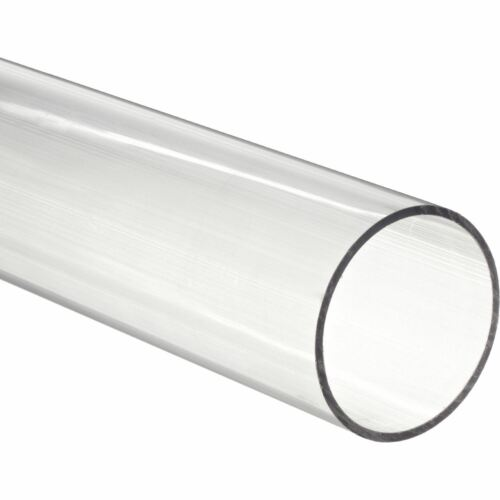"""1-1//4/"""" ID x 1-1//2/"""" OD x 1//8/"""" Wall 48/"""" Polycarbonate Round Tube Clear Nominal"""